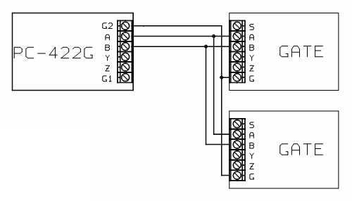 СХЕМА ПОДКЛЮЧЕНИЯ.  Преобразователь интерфейса USB в RS485/RS422, полный дуплект, с гальванической развязкой.