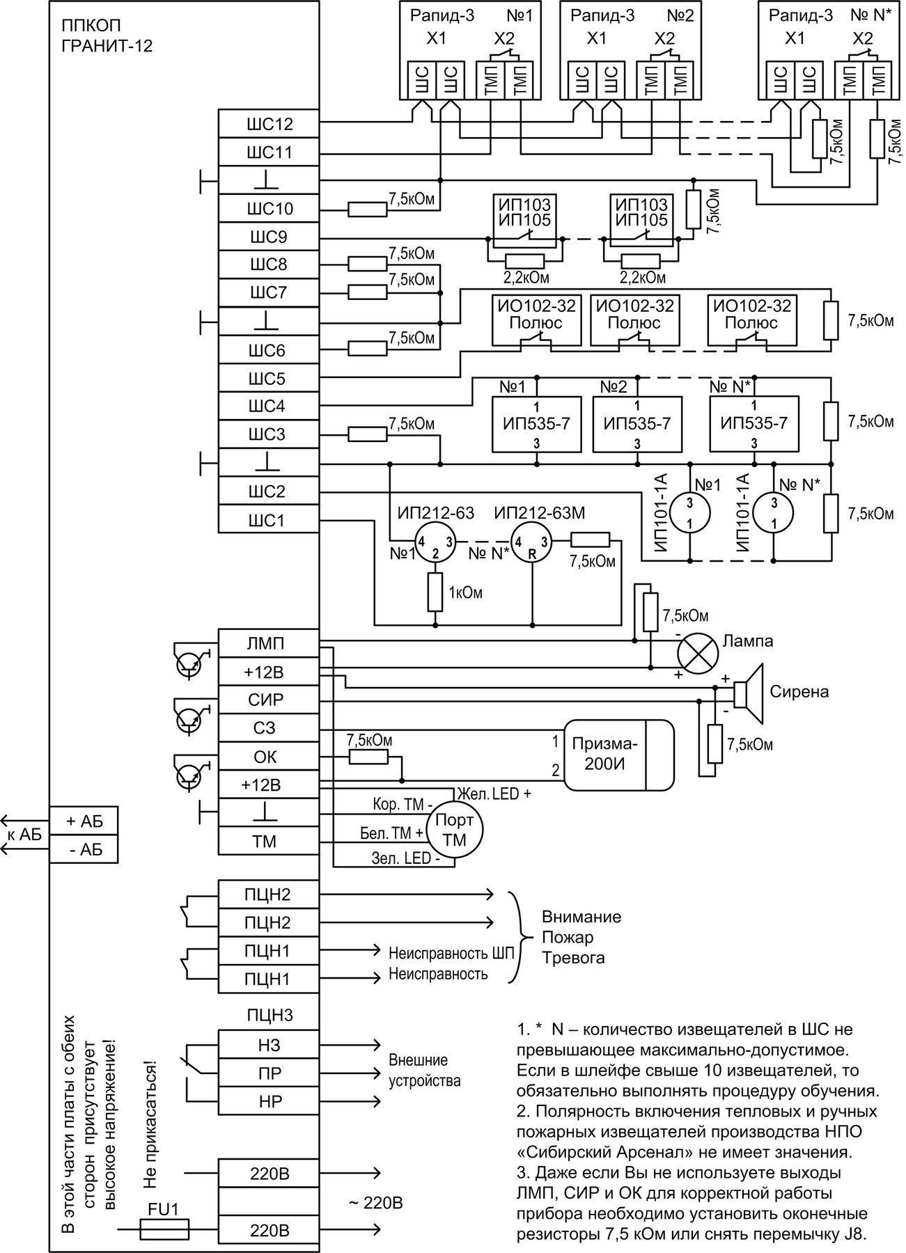 гранит-5 инструкция по установке
