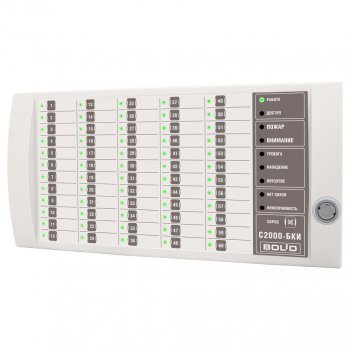 Болид с2000-бки блок контроля и индикации- для отображения состояния и управления 60 разделами — Система ОПС орион (болид)