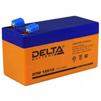 Delta акб-1,2 DTM 12012 свинцово-кислотный аккумулятор 12в/1,2ач — Аккумуляторы 12 вольт
