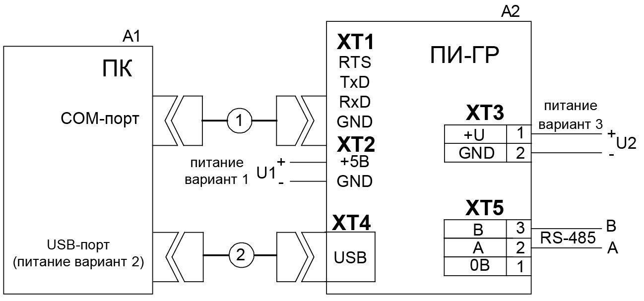 Пи-гр схема подключения